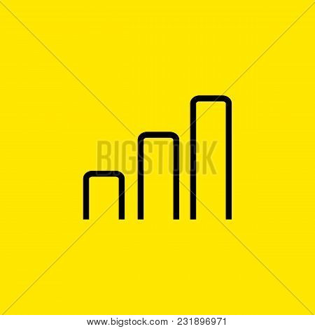 Icon Of Growing Bar Chart. Graph, Statistics, Investment. Profit Concept. Can Be Used For Topics Lik