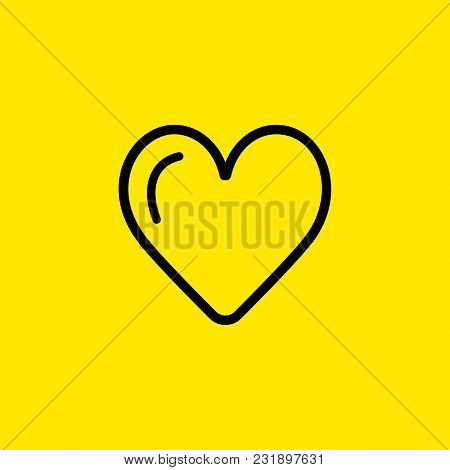 Line Icon Of Heart Shape. Love, Affection, Valentine Day. Heart Concept. Can Be Used For Topics Like