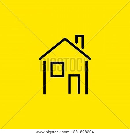 Icon Of House. Apartment, Building, Home. Housing Concept. Can Be Used For Topics Like Real Estate,