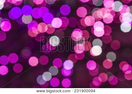 Colorful Blurred Color Bokeh Light Lighting Background