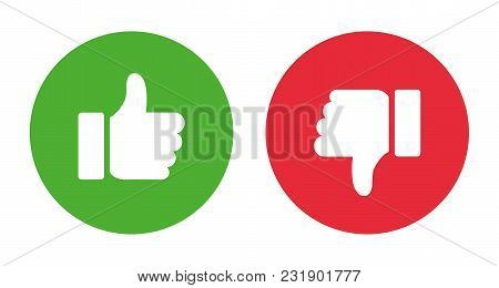 Thumbs Up And Thumbs Down. Stock Vector