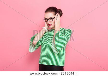 Businesswoman With Hair Bun