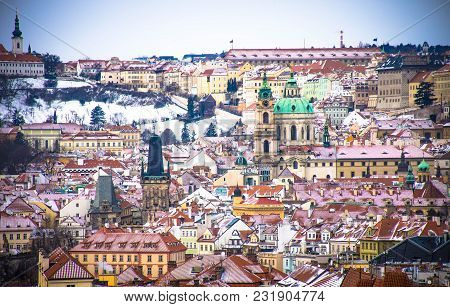 Panorama View of Prague, Czech Republic