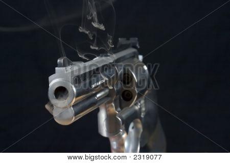 Smoking .357 Magnum Hand Gun