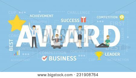 Award Concept Illustration. Idea Of Achievement And Success.