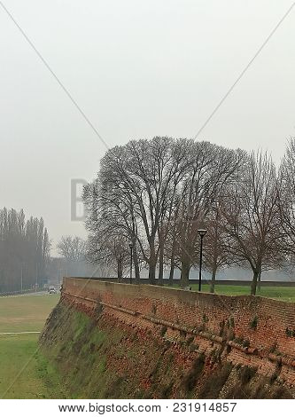 On The Walls Of Ferrara, The Ancient Boundary Of The City