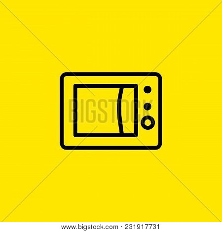 Icon Of Microwave Oven. Heating, Energy, Electronics. Kitchen Concept. Can Be Used For Topics Like H