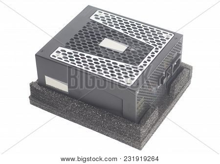 Computer Power Supply Unit  Isolated On A White Background