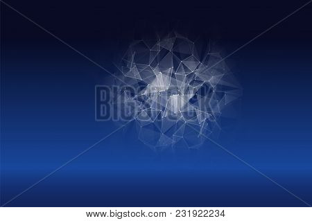 Abstract Polygonal Techno Science Background. Modern Technology Concept.