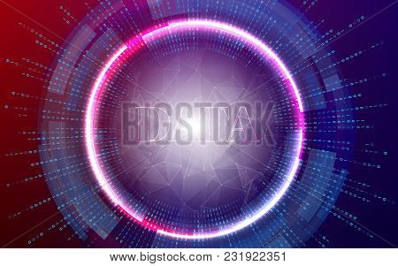 Big Data Background Vector Illustration. Information Streams. Future Technology.