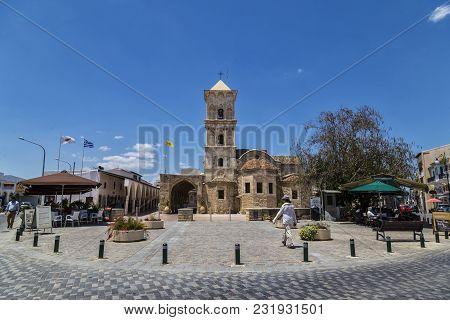 May 19, 2016. Cyprus, Larnaca, Orthodox Church Of Saint  Lazarus, The Patron Saint Of Larnaca. Desti