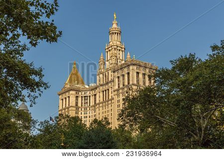 New York, Nyc, Usa- August 26, 2017: New York City Hall, The Seat Of New York City Government. The O