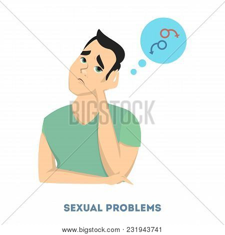 Man Diabetes Symptoms. Having Bad Sexual Problems.