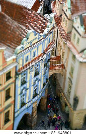 Miniature View Of Old Town, Prague Czech Republic