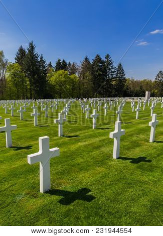 American memorial cemetery of World War II in Luxembourg - history background