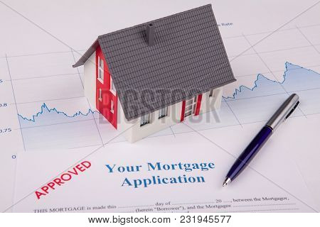 House On A Financial Graph Mortgage Aplication