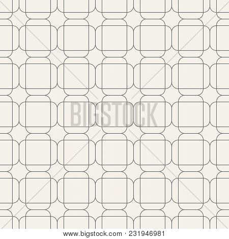 Abstract Seamless Pattern Of Overlapping Rounded Rectangles. Geometric Wallpaper. Tiles Motif. Linea