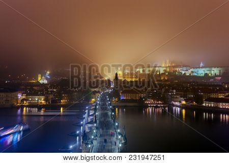 Charles bridge in Prague - Czech Republic - travel and architecture background