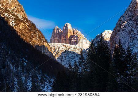 Tre Cime Di Lavaredo, Three Peaks, South Tyrol, Sexten Dolomites, Alto Adige, Italy