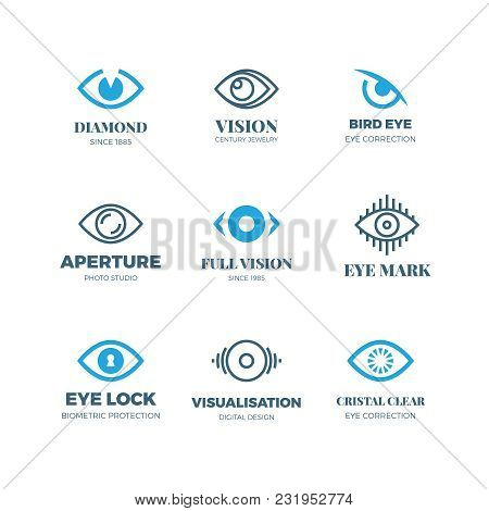 Magic Eye Logos. Mysterious Sight Symbols. Vision Vector Badges. Illustration Of Eye Logo Concept, E