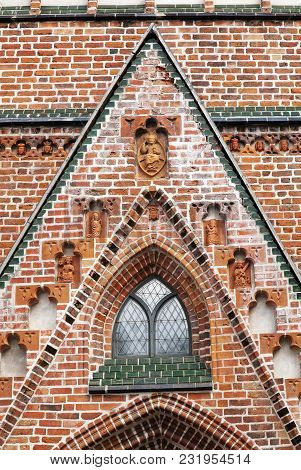 Ruines Of The Cathedral In Tartu, Old Town In Estonia