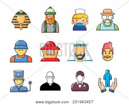 Men Avatar Icon Set. Cartoon Set Of Men Avatar Vector Icons For Web Design Isolated On White Backgro
