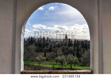 Alhambra Palace View From Generalife