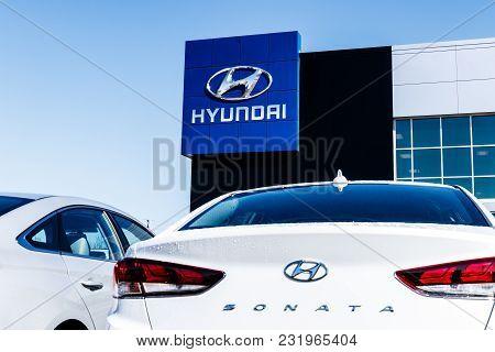Noblesville - Circa March 2018: Hyundai Motor Company Dealership. Hyundai is a South Korean Multinational Automotive Manufacturer VI
