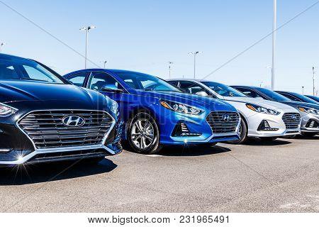 Noblesville - Circa March 2018: Hyundai Motor Company Dealership. Hyundai is a South Korean Multinational Automotive Manufacturer VIII