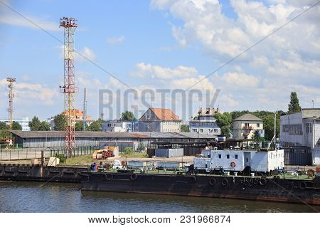 View Of The Pier In The Kaliningrad Sea Fishing Port. Russia.