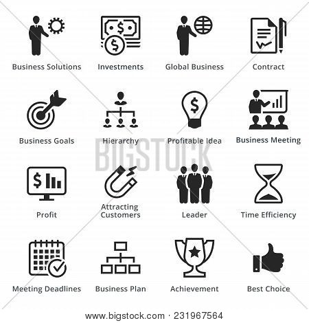 Business Icons - Set 2. Business Icons, Great For Presentations, Web Design Or Any Type Of Design Pr