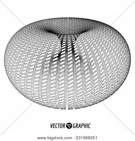 Vector Torus. 3d Geometry Element Design Illustration.
