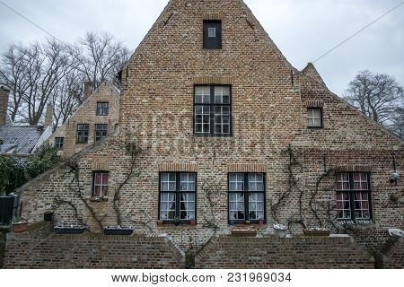 House In Bruges In Winter