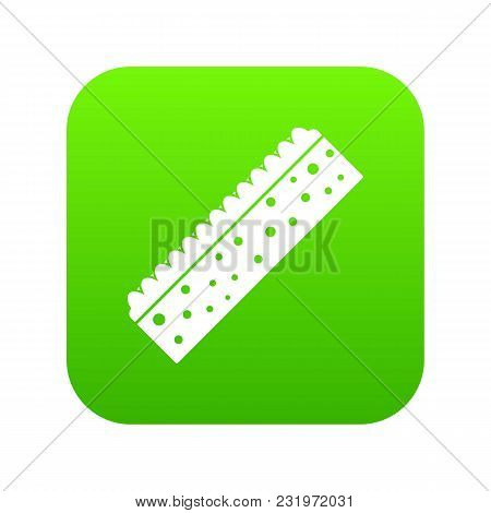 Sponge For Cleaning Icon Digital Green For Any Design Isolated On White Vector Illustration