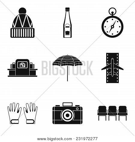 Slackness Icons Set. Simple Set Of 9 Slackness Vector Icons For Web Isolated On White Background