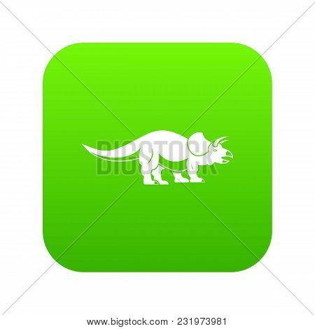 Styracosaurus Icon Digital Green For Any Design Isolated On White Vector Illustration