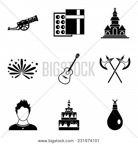 Beloved Icons Set. Simple Set Of 9 Beloved Vector Icons For Web Isolated On White Background