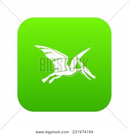 Pterosaurs Dinosaur Icon Digital Green For Any Design Isolated On White Vector Illustration