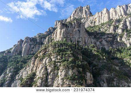 Montserrat Mountain Range View