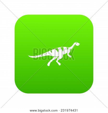 Gallimimus Dinosaur Icon Digital Green For Any Design Isolated On White Vector Illustration