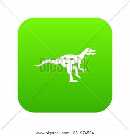 Ornithopod Dinosaur Icon Digital Green For Any Design Isolated On White Vector Illustration