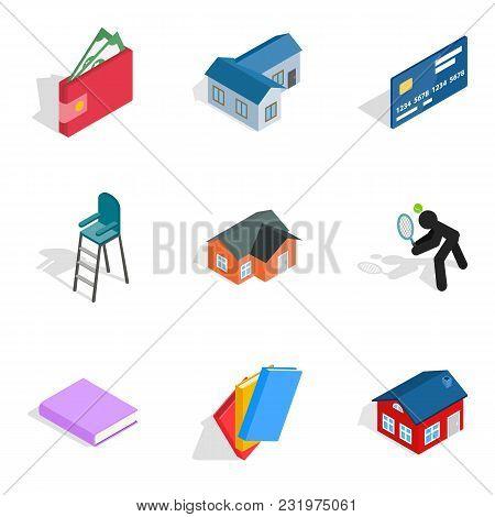 Economy Icons Set. Isometric Set Of 9 Economy Vector Icons For Web Isolated On White Background