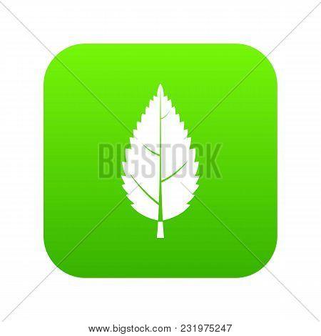 Hornbeam Leaf Icon Digital Green For Any Design Isolated On White Vector Illustration