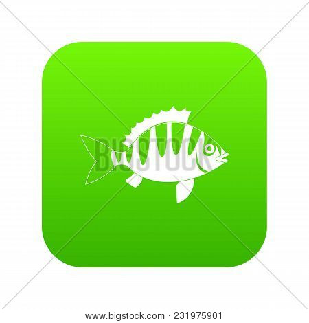 Perch Icon Digital Green For Any Design Isolated On White Vector Illustration