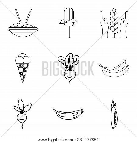 Main Menu Icons Set. Simple Set Of 9 Main Menu Vector Icons For Web Isolated On White Background
