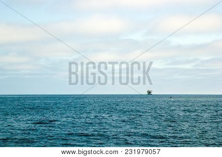 Ocean Oil Rig Near Channel Islands Off Ventura Coast, Southern California