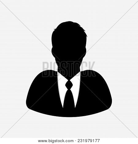 Businessman Icon On White Background. Illustrator Vector.