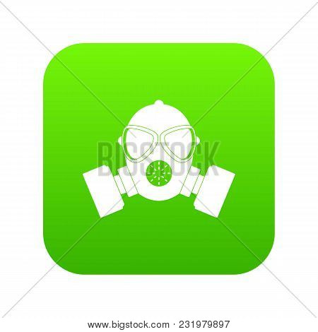 Respirator Icon Digital Green For Any Design Isolated On White Vector Illustration