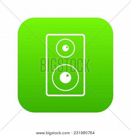 Subwoofer Icon Digital Green For Any Design Isolated On White Vector Illustration