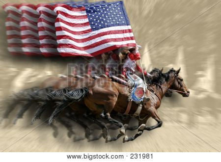 Rodeo Queen & Flags